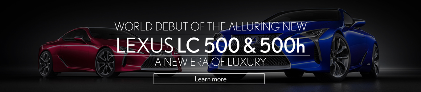 World Debut of Lexus LC 500 & 500h