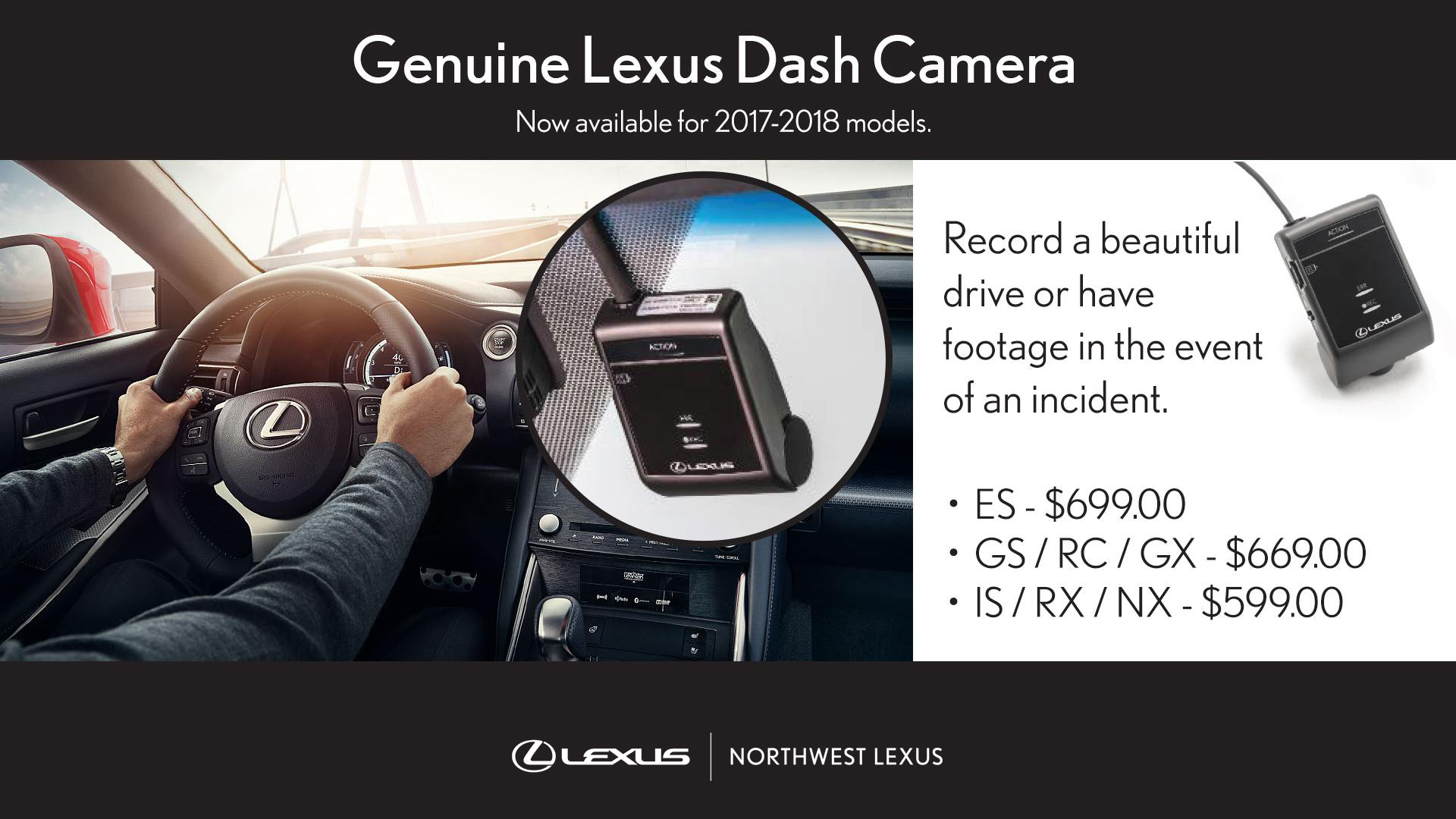Genuine Lexus Dash Camera