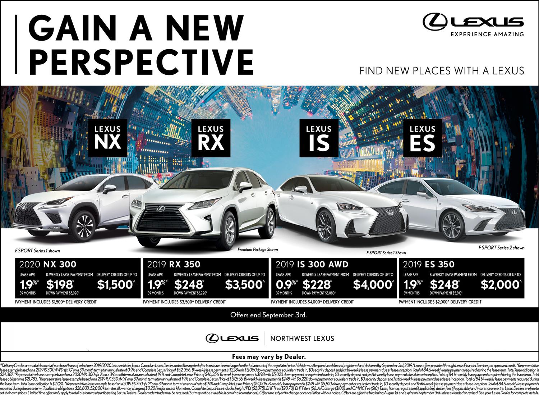 Lexus Lease Offers >> Best Lexus Deals Brampton Northwest Lexus