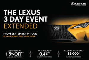 The Lexus 3 Day Event Extended