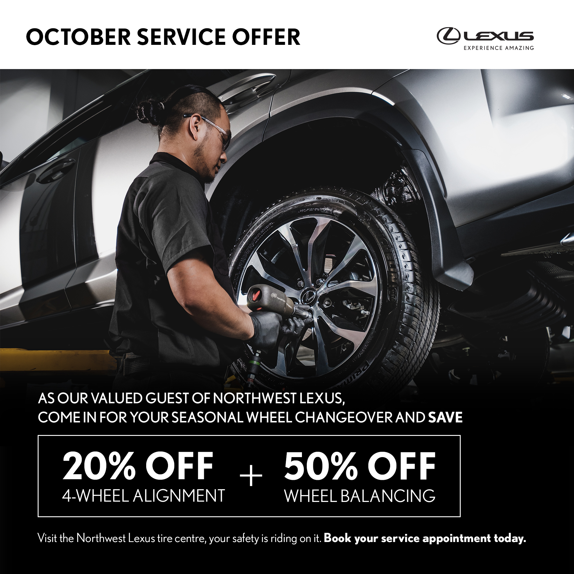 October 4-Wheel Alignment and Wheel Balancing Offer