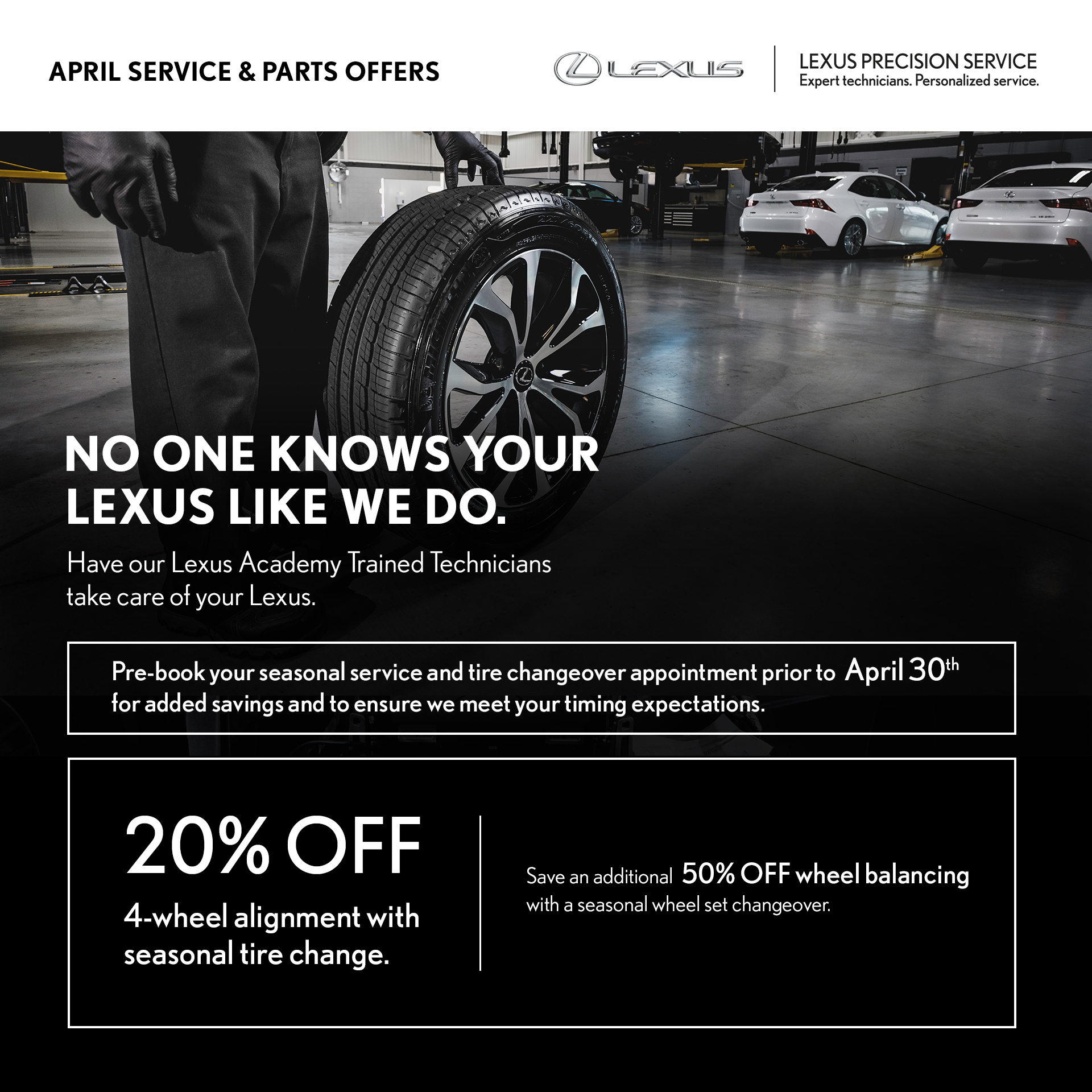 April Service Offer – Wheel Alignment